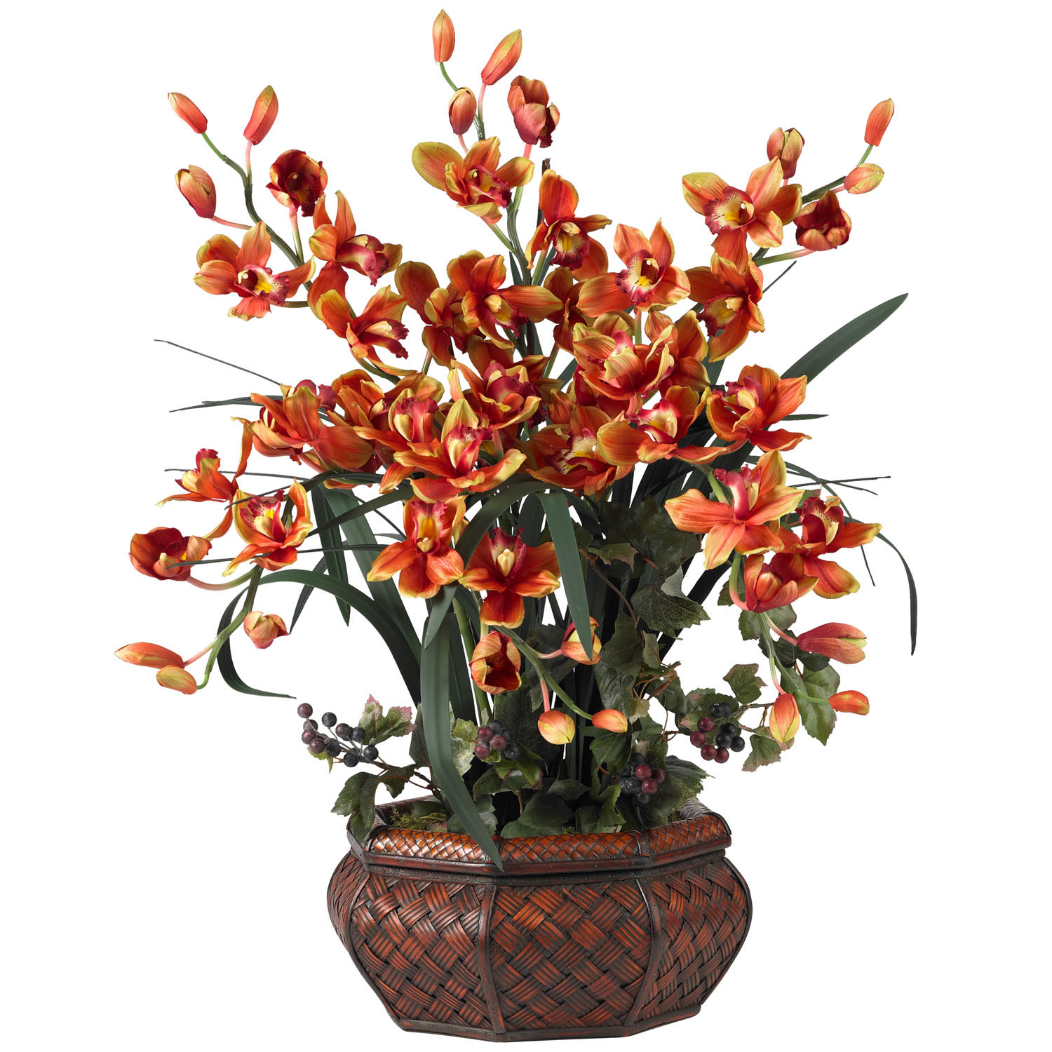 Large Cymbidium Orchid Silk Flower Arrangement  1199