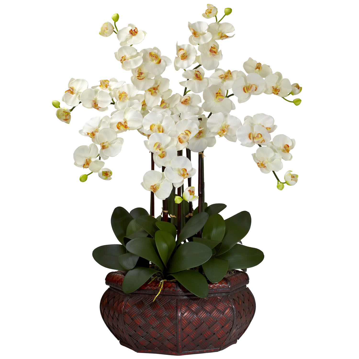 Large Phalaenopsis Orchid Silk Flower Arrangement 1201: christmas orchid arrangements