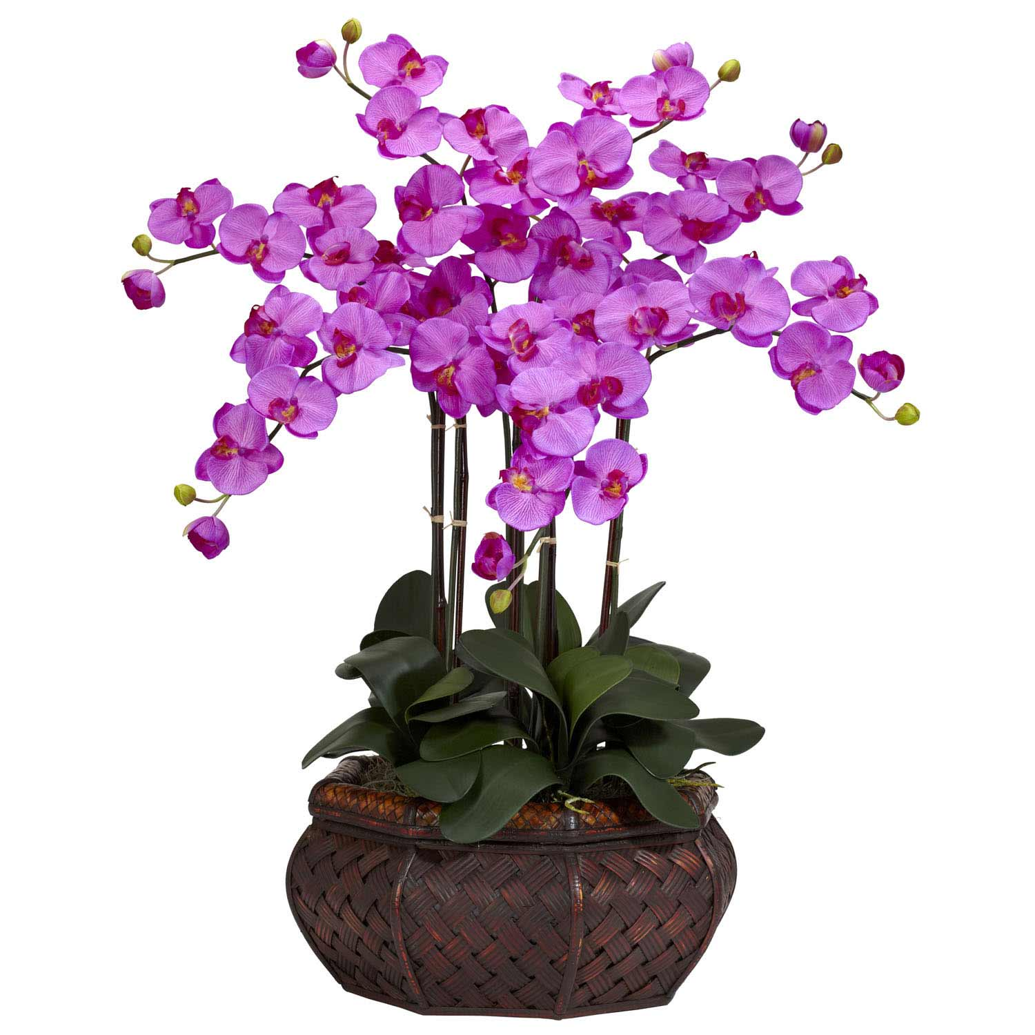 Large Phalaenopsis Orchid Silk Flower Arrangement 1201