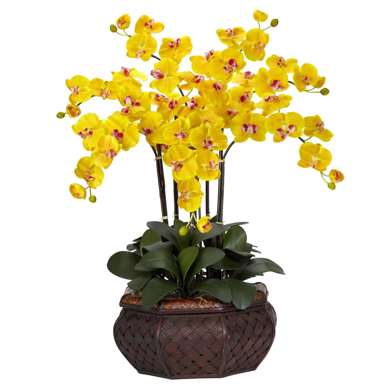Large Phalaenopsis Orchid Silk Flower Arrangement 1201