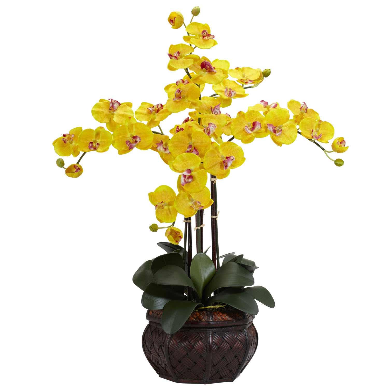 Silk phalaenopsis orchids with decorative vase 1211 nearly - Decorative flower vase ...