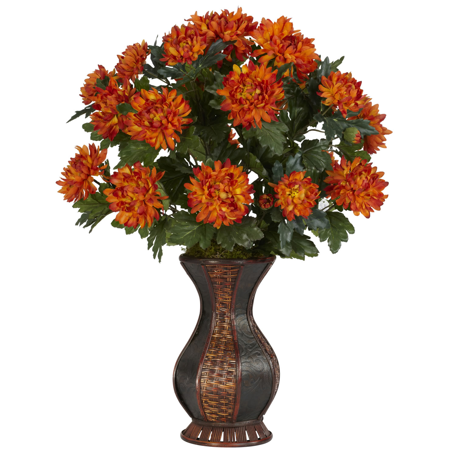 Silk Spider Mums in Urn 6664