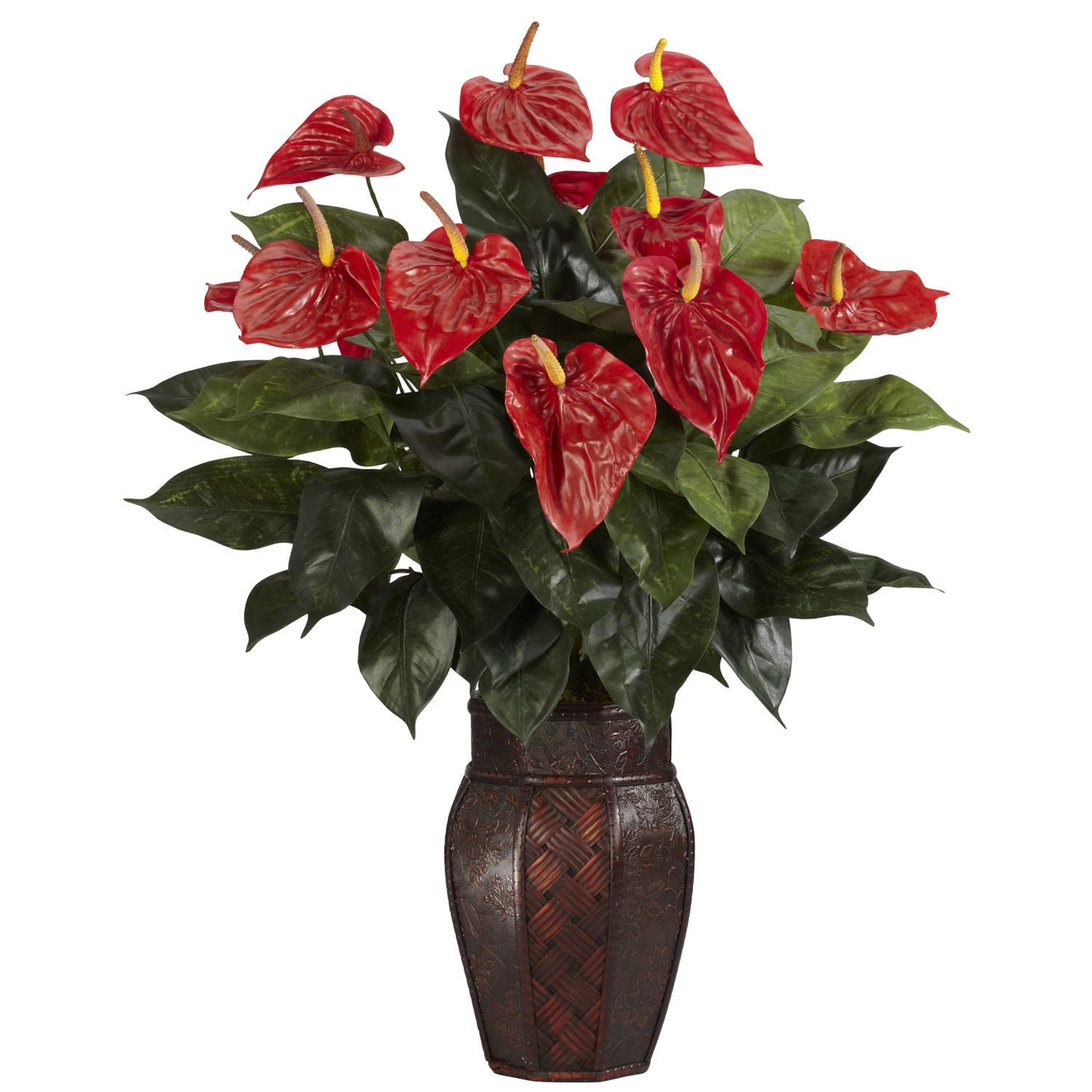 Silk Anthurium in Vase 6666