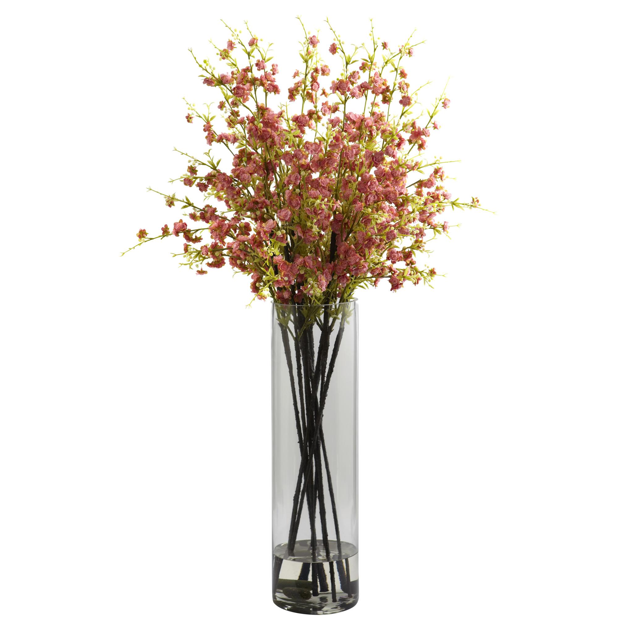 38 Inch Silk Giant Cherry Blossom Arrangement In Vase 1316