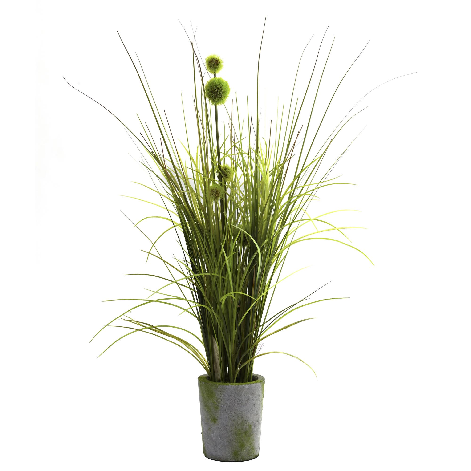 Fake grass decor artificial seagrass artificial tall grass 26 inch artificial grass dandelion in cement planter workwithnaturefo