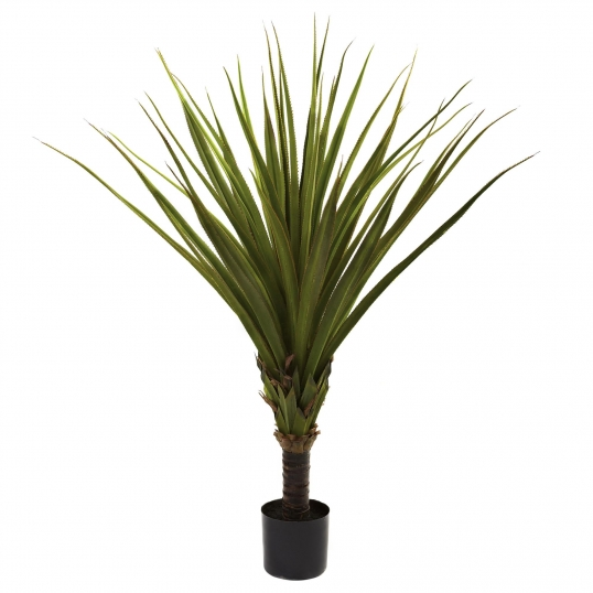 5 foot artificial spiked agave plant: potted | 5365