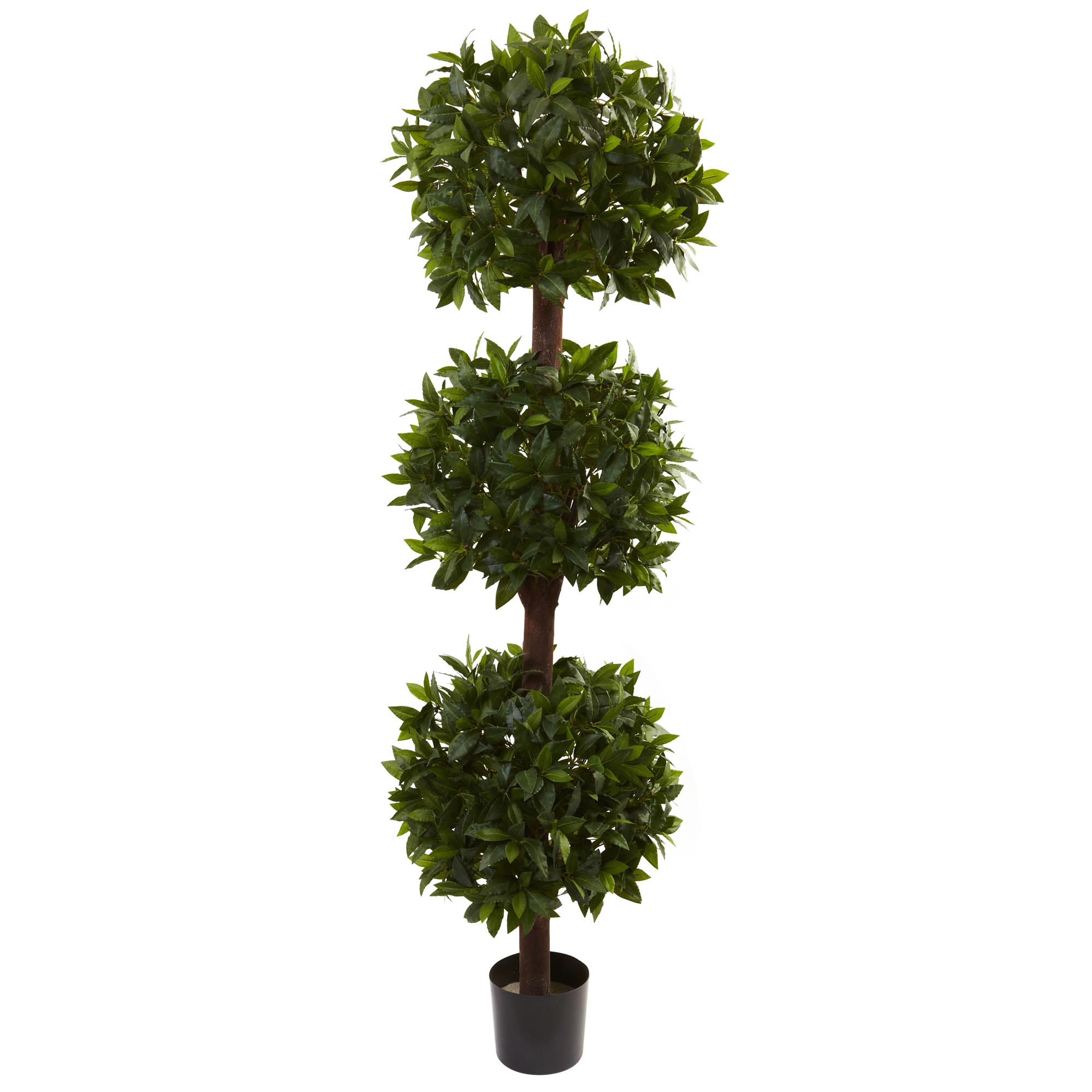 Check out the Artificial Sweet Bay Triple Ball Topiary Potted Product Photo