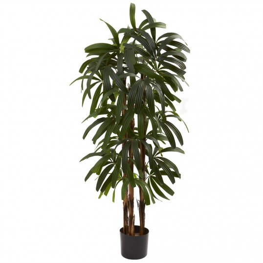 4 foot artificial raphis palm tree: potted | 5401