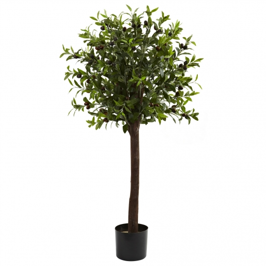 4 foot artificial olive tree: potted | 5411