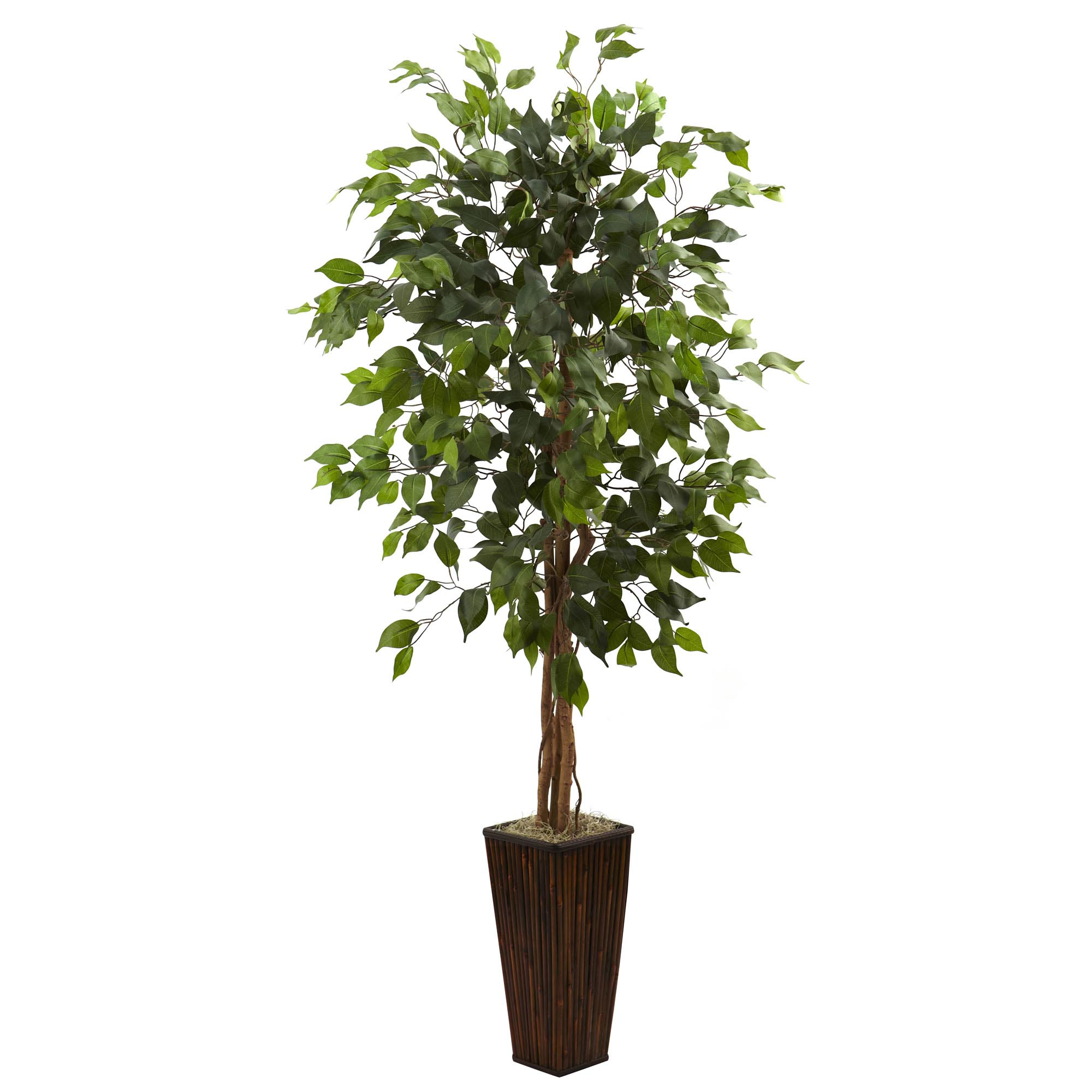 5 5 Foot Artificial Ficus Tree In Bamboo Planter 5924