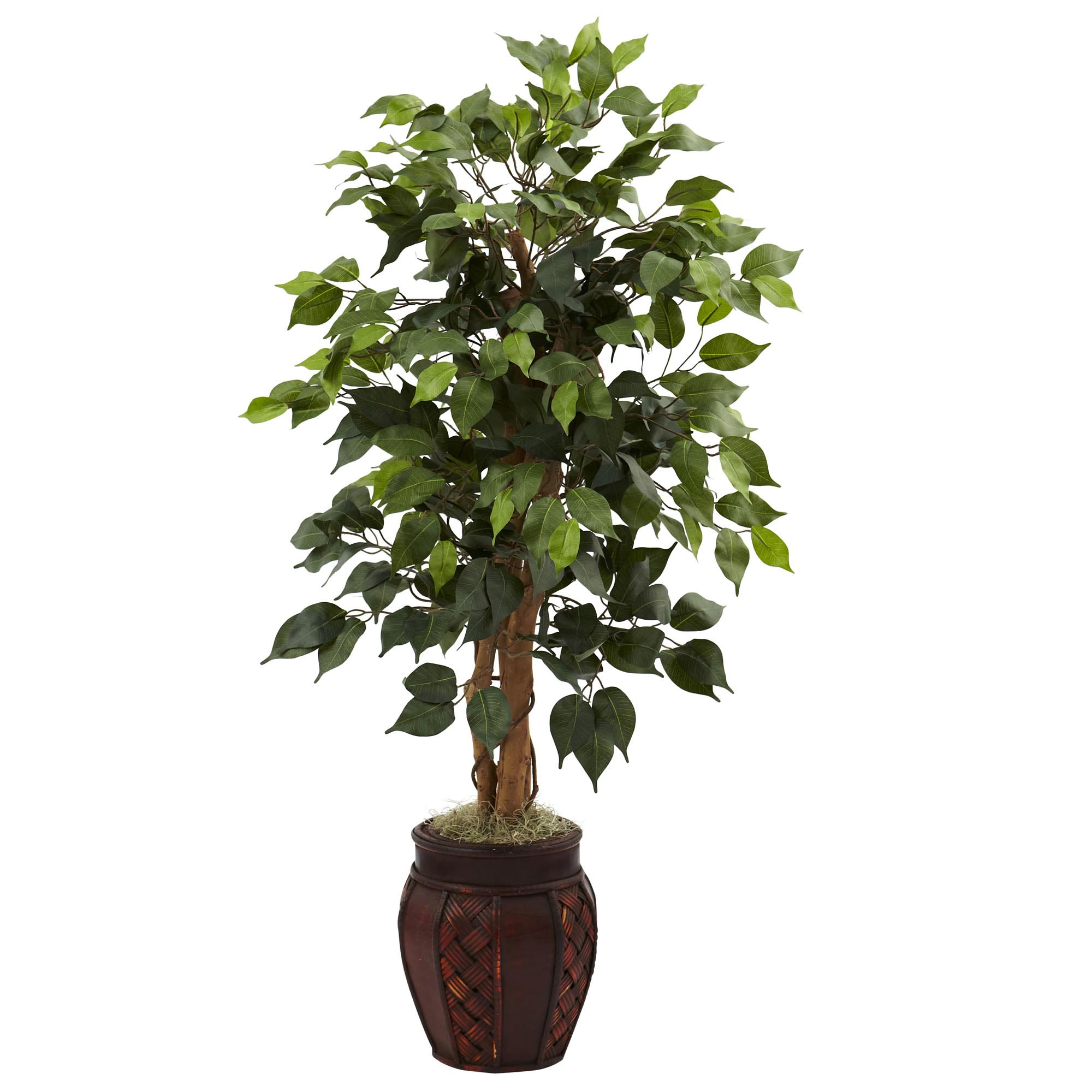 Decorative Indoor Trees 32 Inch Indoor Silk Fig Tree 42 Leaves 15 Figs Potted 5440