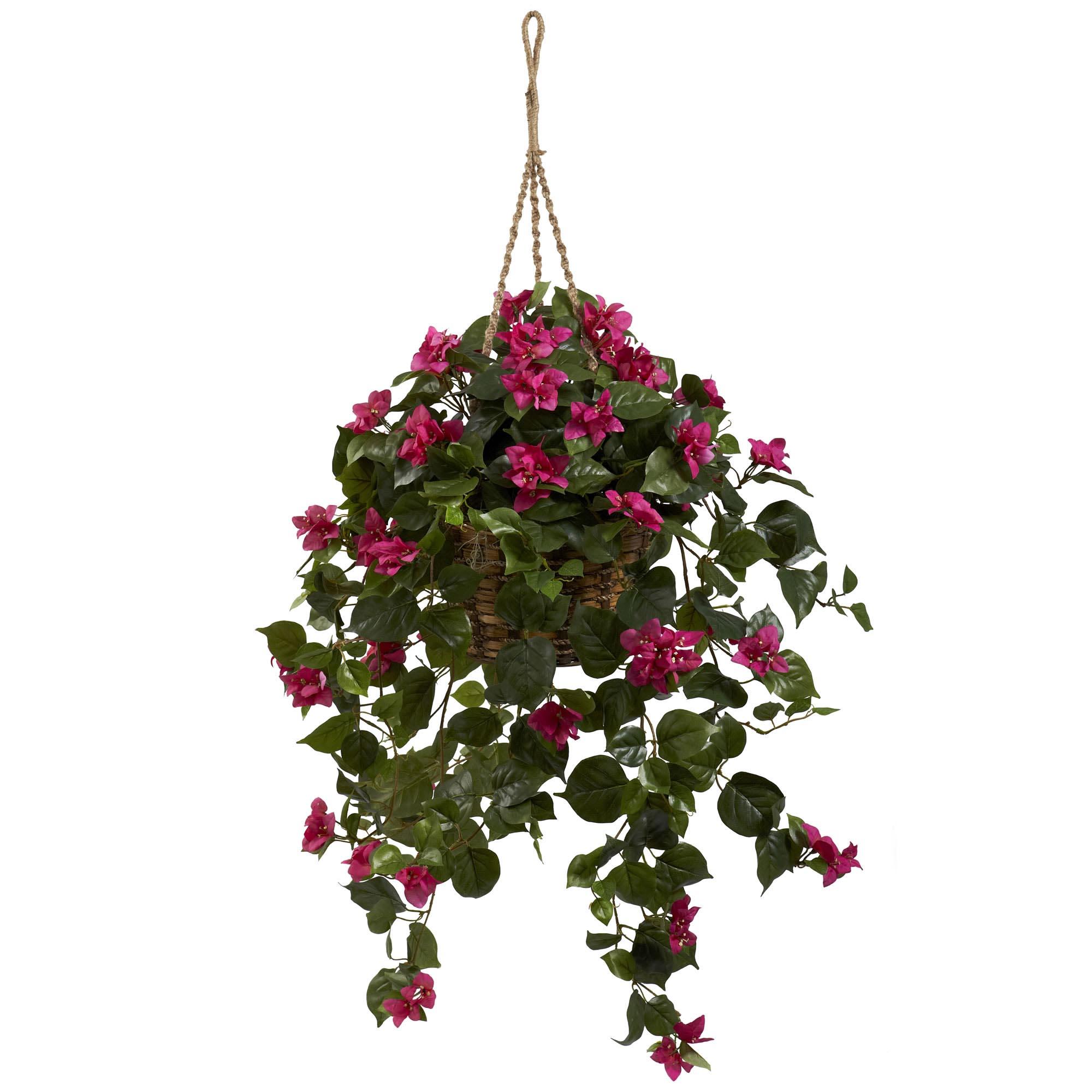 30 inch wide silk bougainvillea silk hanging basket 6734. Black Bedroom Furniture Sets. Home Design Ideas
