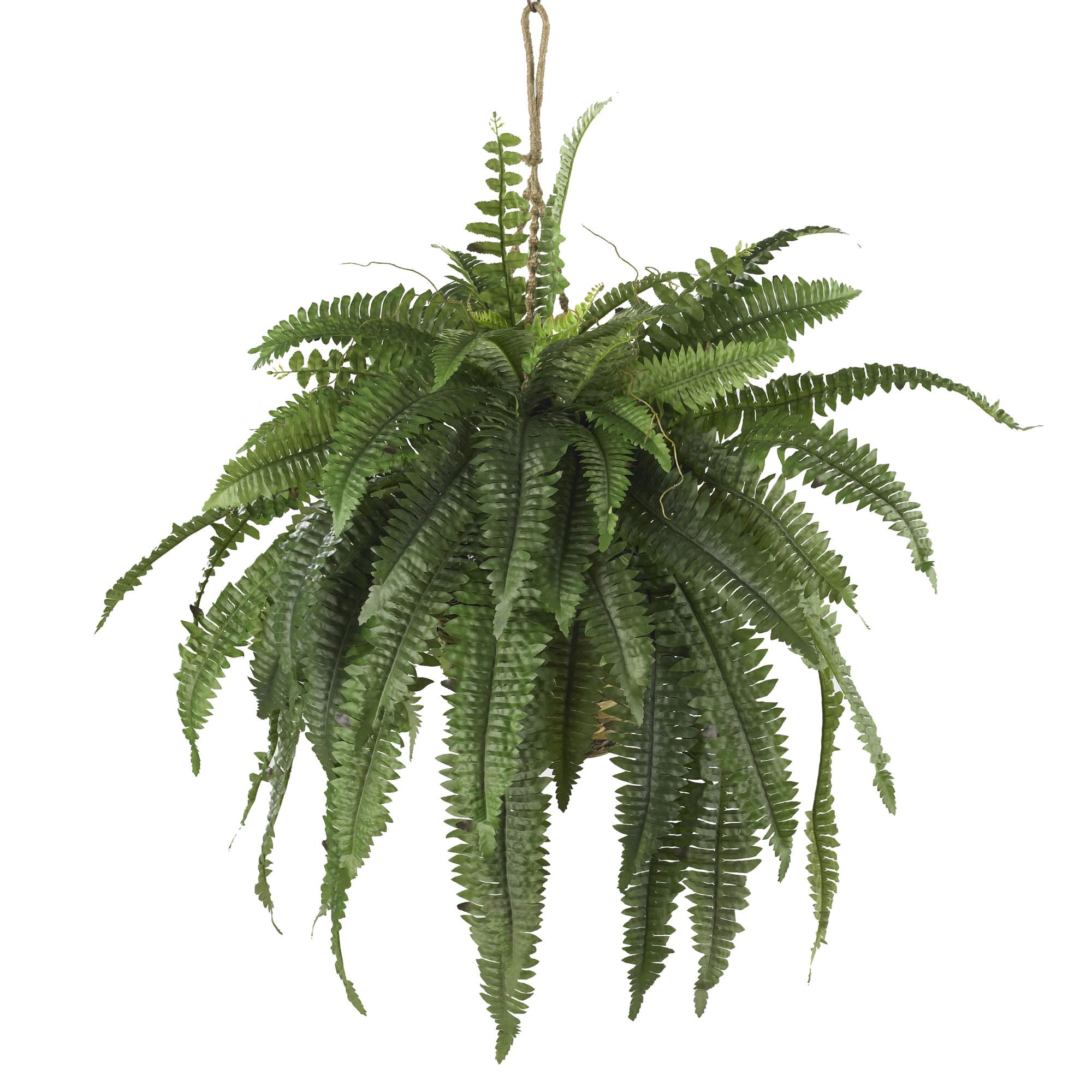 32 inch wide artificial large boston fern hanging basket | 6774