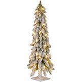 Lightly Flocked Artificial Christmas Trees