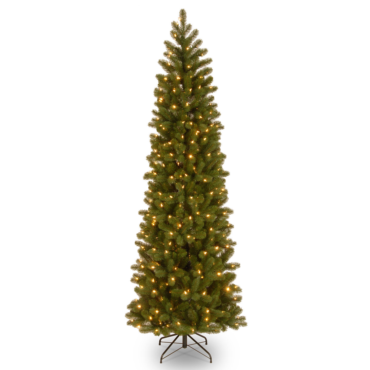 Serious Pe Pvc Downswept Douglas Fir Pencil Tree Clear Lights Product Photo