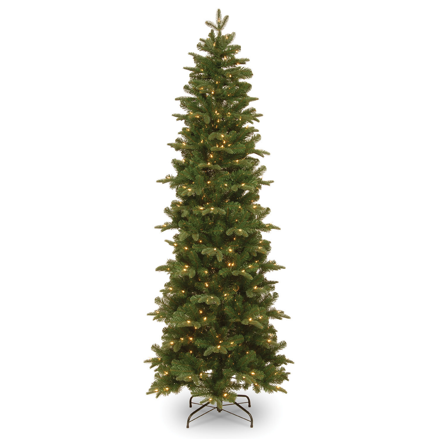 7.5 Foot Pe/pvc Prescott Pencil Slim Tree: 350 Clear Lights