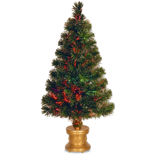 Slim Logo; 32 inch Fiber Optic Evergreen Firework Tree: Top Star/Multi-Colored  Color Wheel - National Tree Company 32 Inch Fiber Optic Evergreen Firework Tree