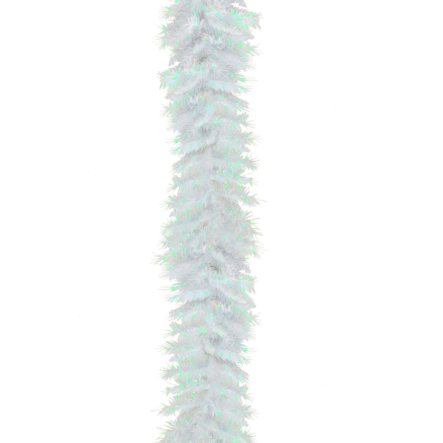 National tree company foot white iridescent tinsel