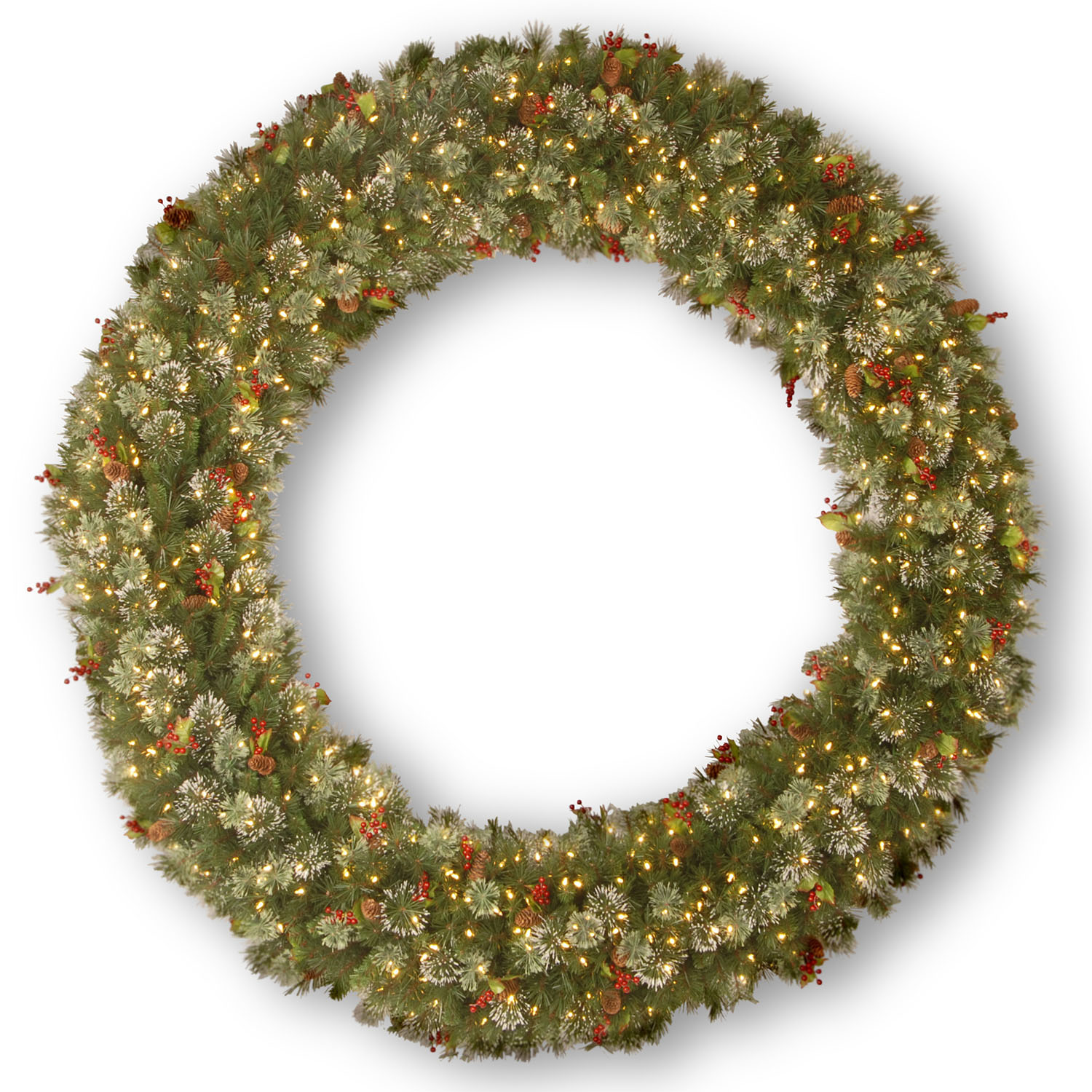 Serious Wintry-Pine-Wreath-Clear-Lights Product Picture 634