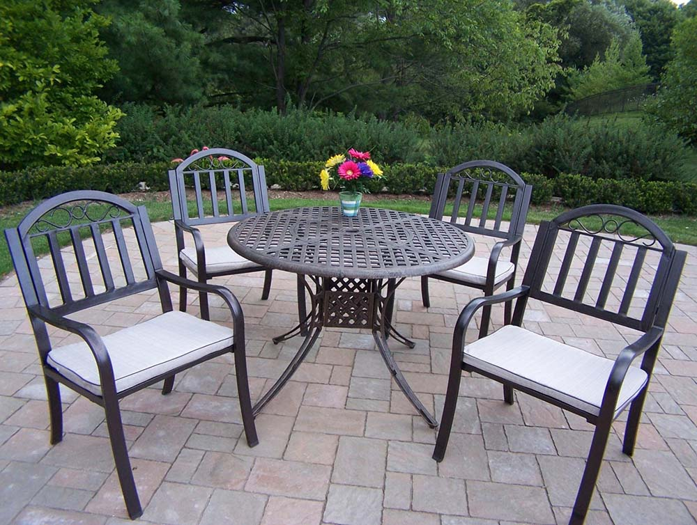 Select Elite Cast Aluminum Dining Set Cushions Product Photo