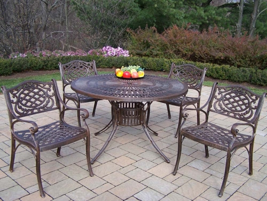 Oakland Living Sunray Inch Mississippi Pc Patio Dining Set - 48 inch outdoor table