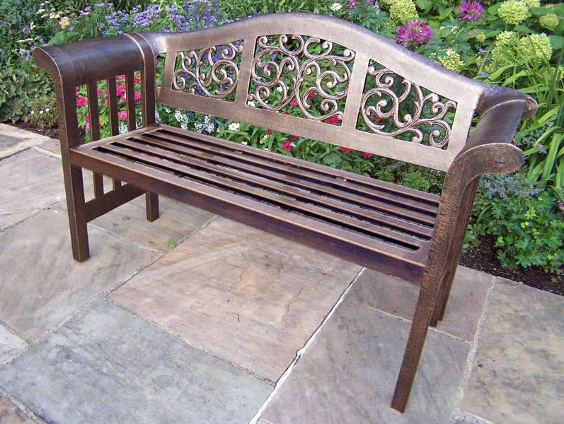 Choose Mississippi Cast Aluminum Outdoor Royal Bench Product Photo