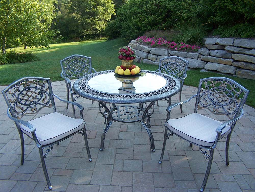 Search Mississippi Glass Top Dining Set Cushions Product Photo
