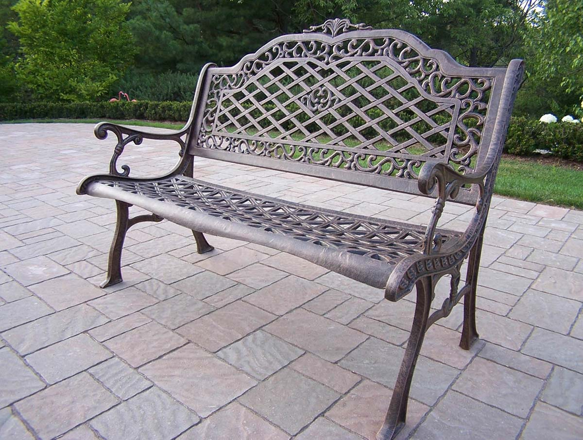 Cast Of Benched : Cast aluminum bench