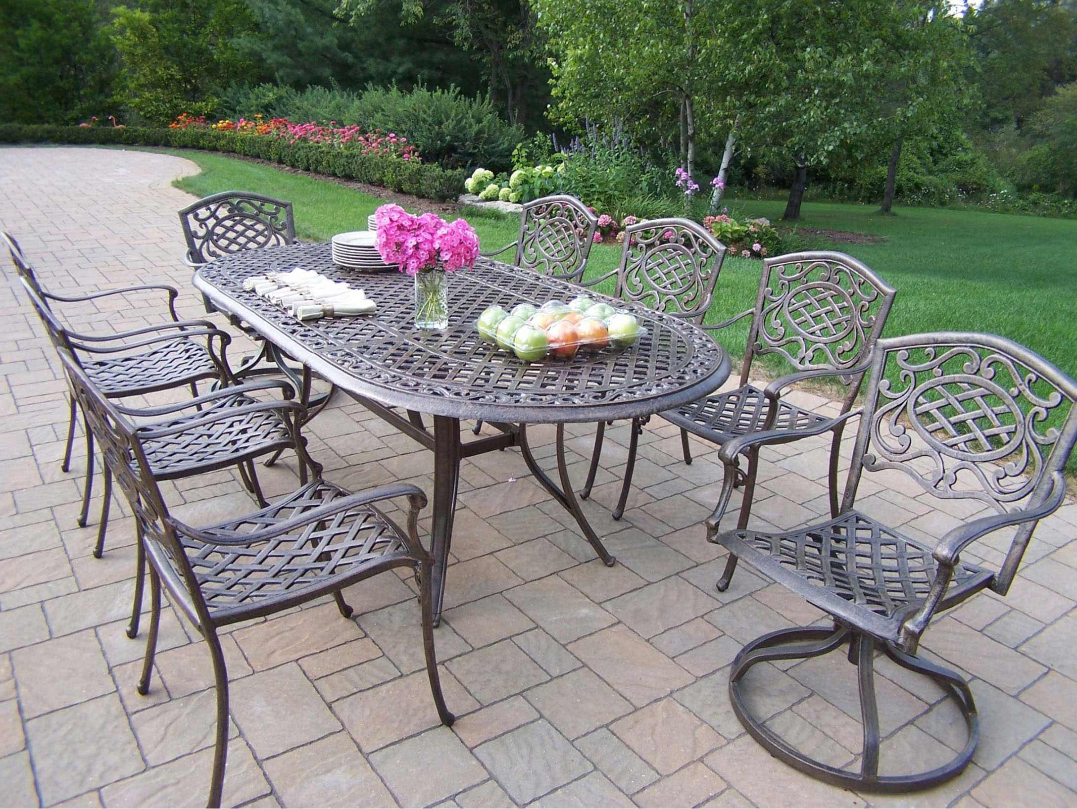 Superb Mississippi Patio Dining Set Swivel Chairs 15 2734