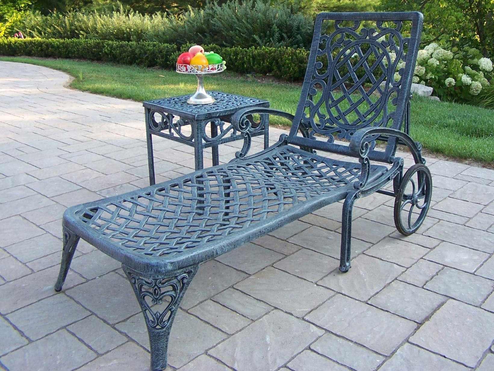 Mississippi Cast Aluminum Chaise Lounge Set