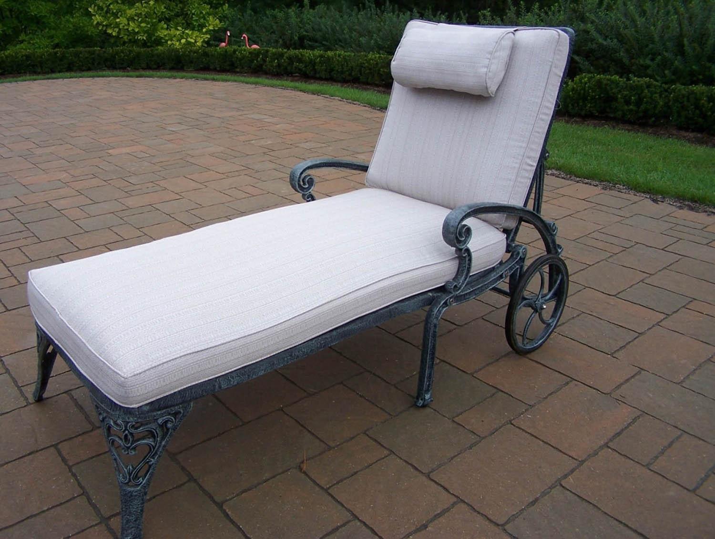 Choose Mississippi Cast Aluminum Chaise Lounge Cushion 3 1367