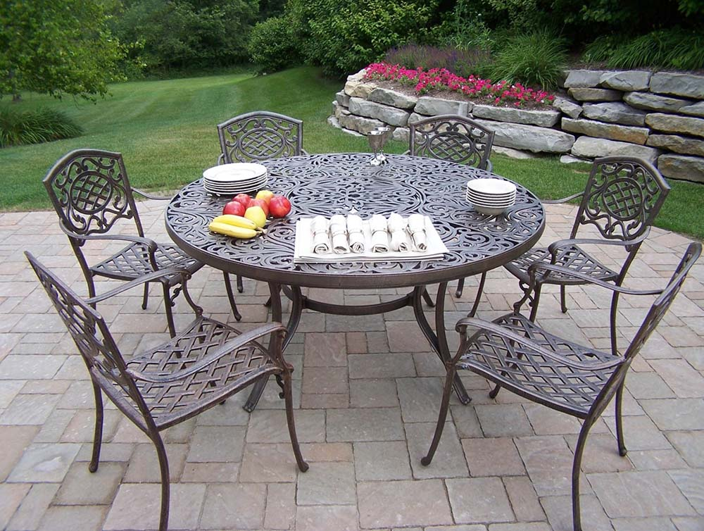 Stunning Mississippi Cast Aluminum Round Dining Product Photo