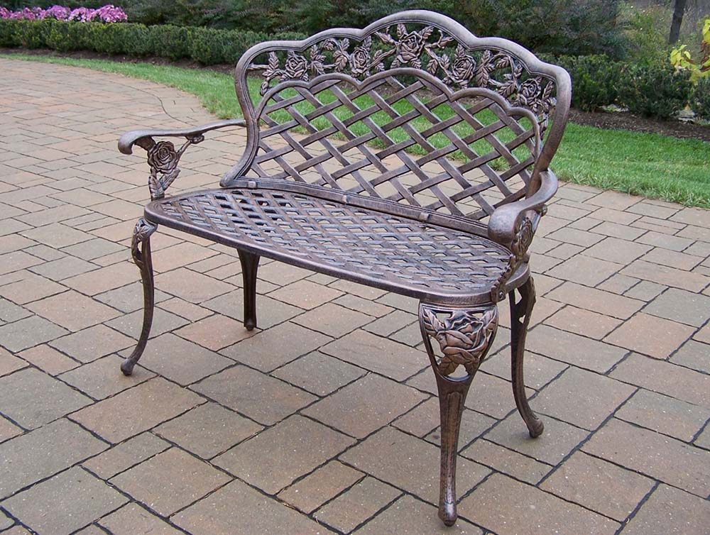 Aluminum | Outdoor | Garden | Bench | Love | Seat | Rose