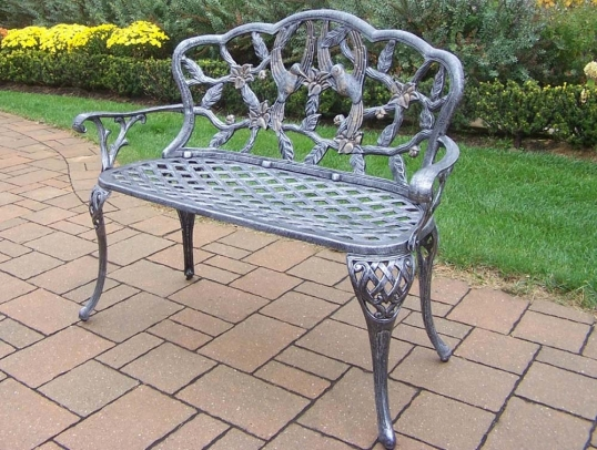 Surprising Oakland Living Hummingbird Cast Aluminum Outdoor Garden Andrewgaddart Wooden Chair Designs For Living Room Andrewgaddartcom