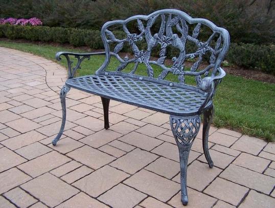 Tremendous Oakland Living Hummingbird Cast Aluminum Outdoor Garden Andrewgaddart Wooden Chair Designs For Living Room Andrewgaddartcom