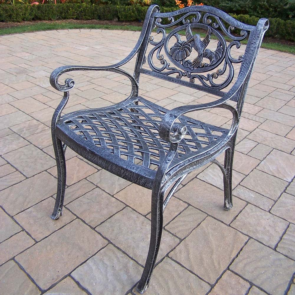 One of a kind Hummingbird Cast Aluminum Outdoor Arm Chair Product Photo