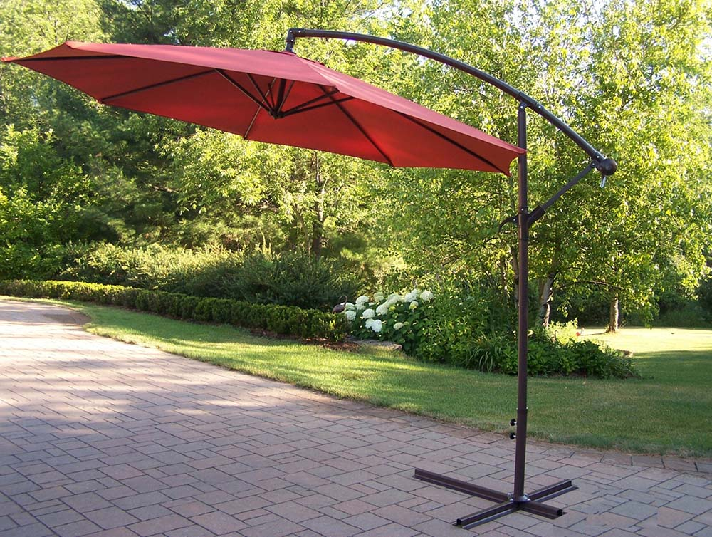 10 Ft Rochester Burnt Orange Cantilever Umbrella
