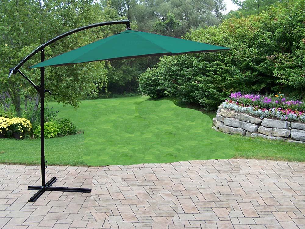 10 Ft Rochester Green Cantilever Umbrella