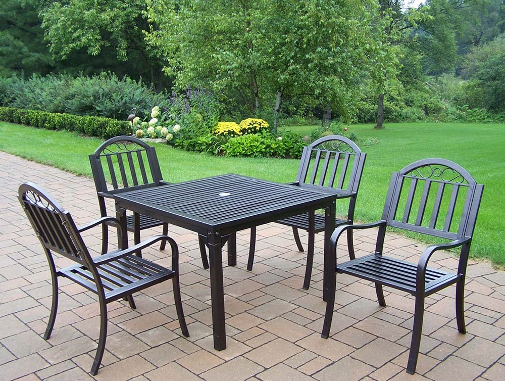 Optimal Rochester Square Patio Table Dining Set Product Photo