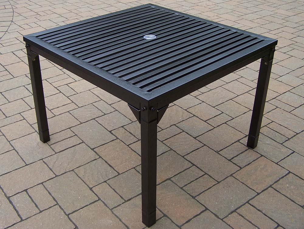 Precious Rochester Square Tubular Iron Dining Table Product Photo