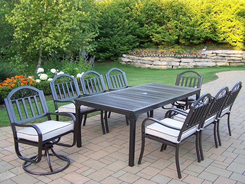 Buy Rochester Dining Set Swivels Cushions Product Photo
