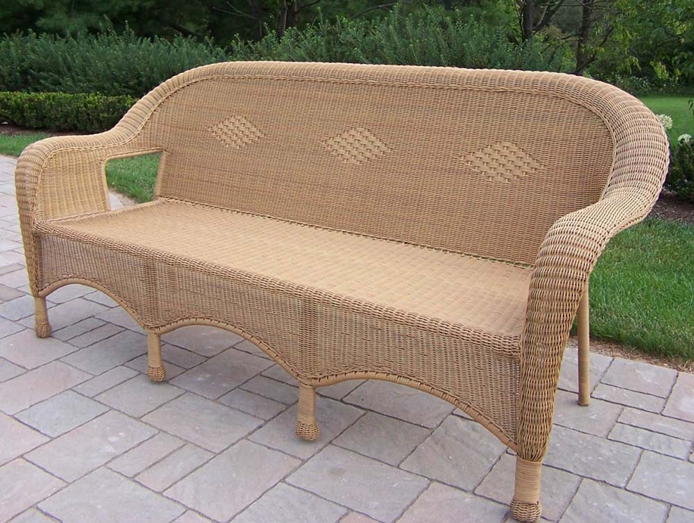 Purchase Resin Wicker Person Outdoor Settee Honey Product Photo