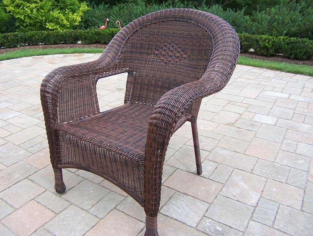 Choose Resin Wicker Outdoor Arm Chair Coffee Product Photo