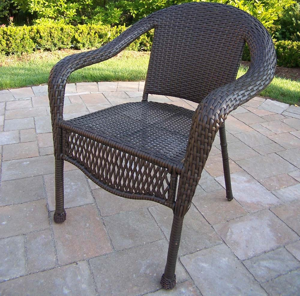 View Elite Resin Wicker Patio Arm Chair  Product Photo