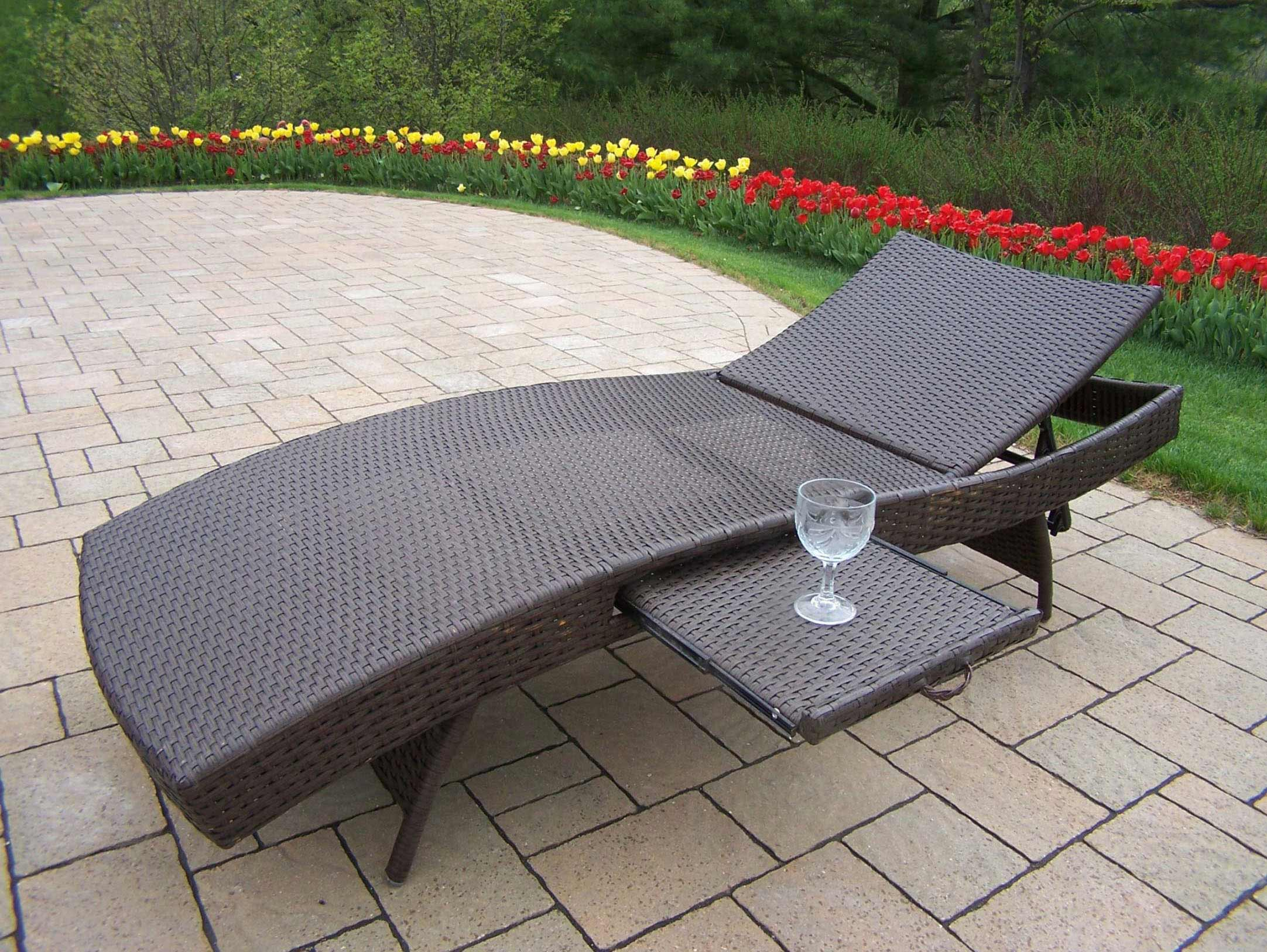 View Elite Resin Wicker Adjustable Chaise Lounge Product Photo