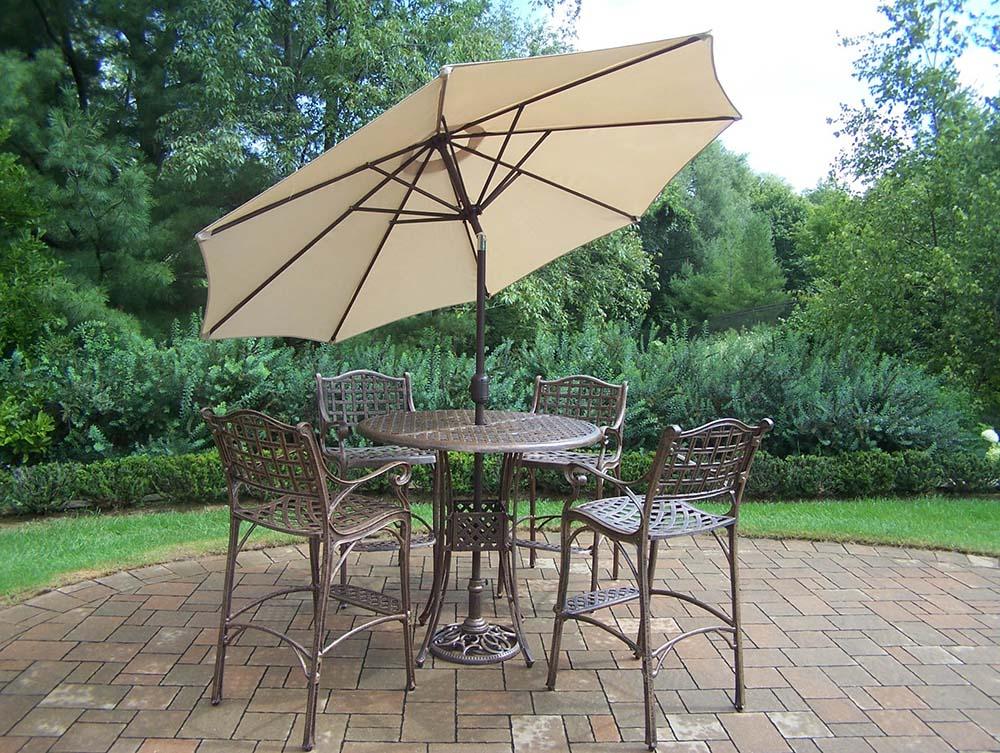 Umbrella   Stand   Beige   Table   Bar