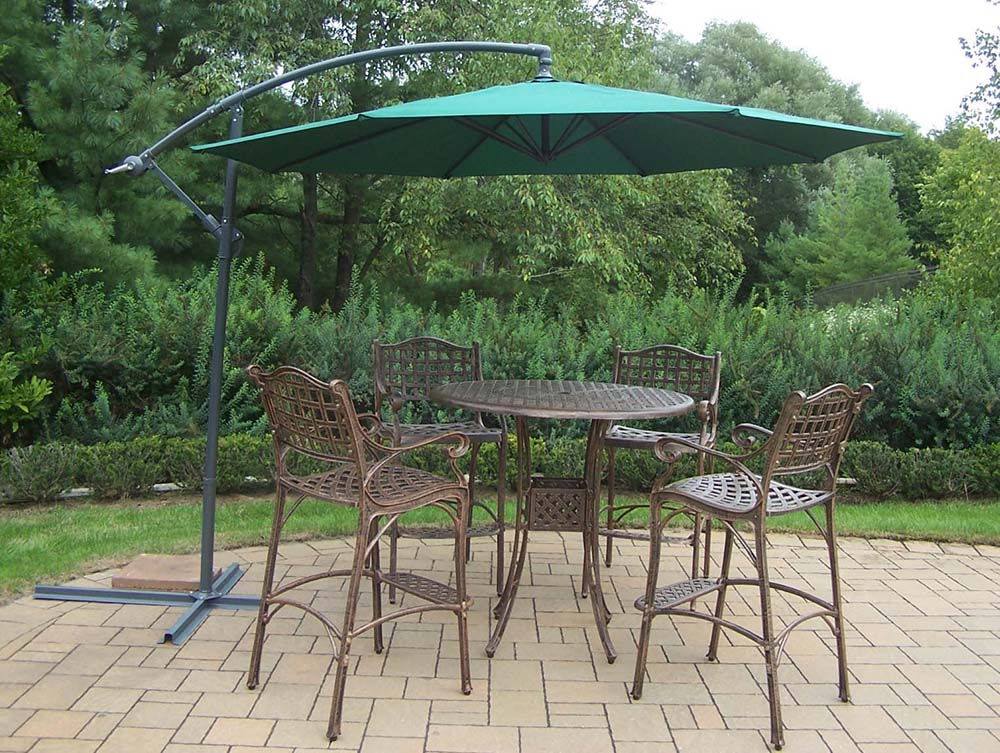 Impressive Elite Bar Set Table Cantilever Umbrella Product Photo
