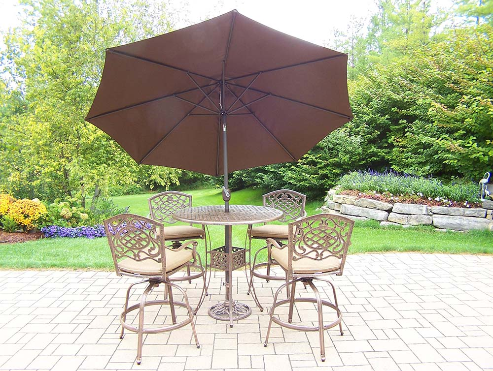 Cheap Mississippi Bar Set Table Swivel Stools Cushion Product Photo