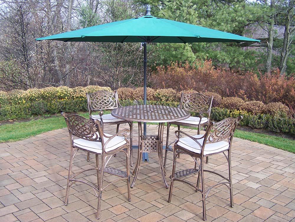 Valuable Elite Mississippi Bar Set Stools Umbrella Product Photo