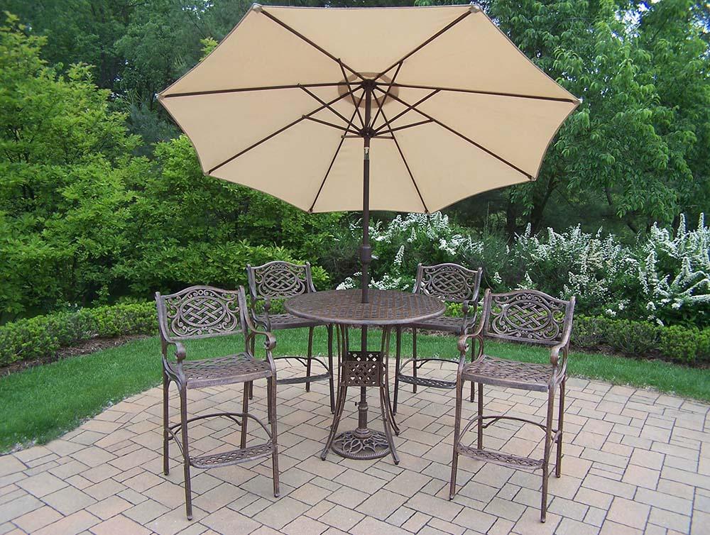 Design Mississippi Bar Set Table Stools Umbrella Product Photo